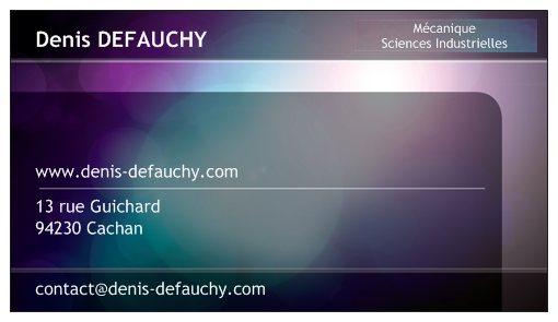 Carte de visite de Denis Defauchy Recto